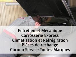 Services: entretien et mécanique, carrosserie express...